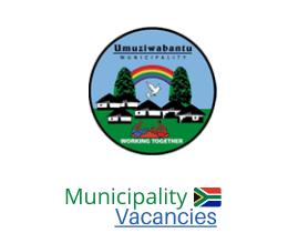 Umuziwabantu Local municipality vacancies 2021 | Umuziwabantu Local vacancies | KwaZulu-Natal Municipality