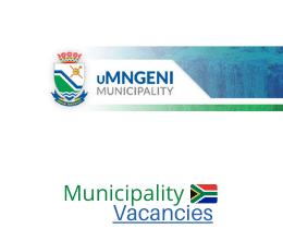 uMngeni Local municipality vacancies 2021 | uMngeni Local vacancies | KwaZulu-Natal Municipality