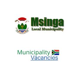 uMsinga Local municipality vacancies 2021 | uMsinga Local vacancies | KwaZulu-Natal Municipality