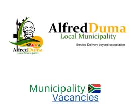 Alfred Duma Local municipality vacancies 2021 | Alfred Duma Local vacancies | KwaZulu-Natal Municipality