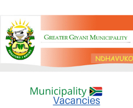 Greater Giyani Local municipality vacancies 2021 | Greater Giyani Local vacancies | Limpopo Municipality