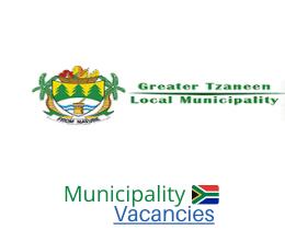 Greater Tzaneen Local municipality vacancies 2021 | Greater Tzaneen Local vacancies | Limpopo Municipality