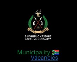 Bushbuckridge Local municipality vacancies 2021 | Bushbuckridge Local vacancies | Mpumalanga Municipality