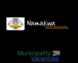 Namakwa District municipality vacancies 2021 | Namakwa District vacancies | Northern Cape Municipality